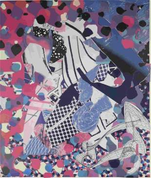 Frank Stella Signed Offset Lithograph 26/30