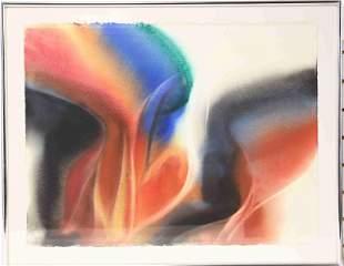 Frank Monaco 1981 Watercolor Rainbow Art