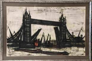 """Bernard Buffet Litho """"Tower Bridge, London"""""""