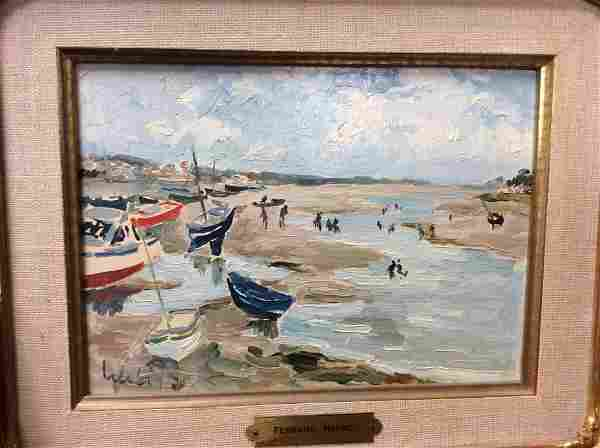Fernand Herbo (French 1905-1995) Estuary Painting