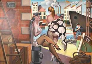 Pierre de Mougins (French b1966) Modern Port Scene