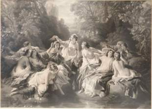 Philipp Hermann Eichens (1813-1886) Nude Women