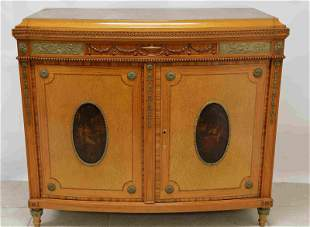 19c French Empire Cabinet w Allegorical Medallions