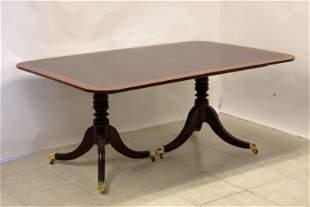 Stickley Bros. Banded inlay Mahogany Dining Table