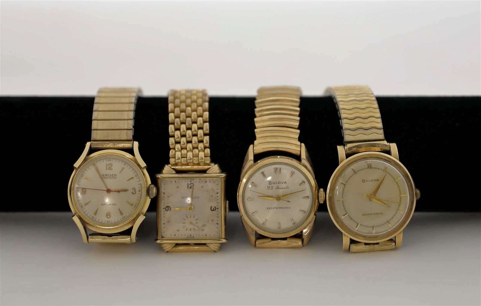 (4) Vintage Self Winding Gold Filled Men's Watches