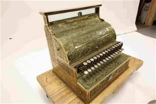 19c Antique Brass National Cash Register Model #3