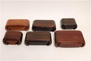 (6) Exotic Wood Sliding Puzzle Boxes