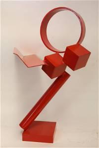 Arline Schulman 1970's Painted Steel Sculpture