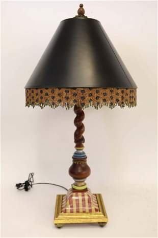 Mackenzie Childs Table Lamp w Shade