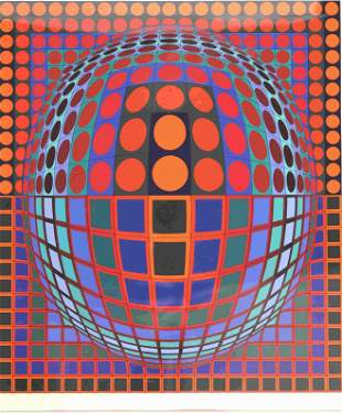 Victor Vasarely (French 1906-1997) Signed Litho