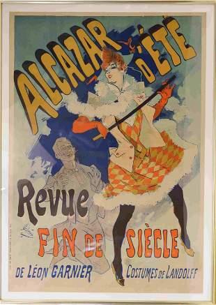 Jules Cheret (French, 1836-1932) Alcazar d' Ete'