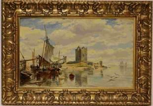 Sam Bough R.S.A. 1822-1878 Painting Brougly Castle