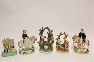 (5) Staffordshire Figural Groups