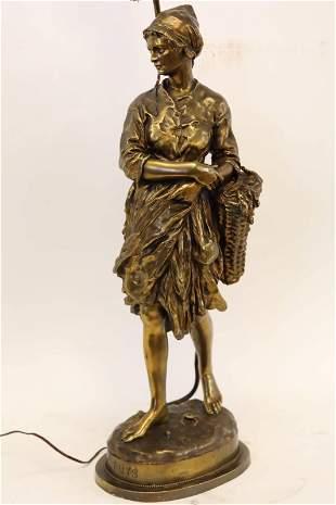 "Jean-Baptiste Carpeaux, ""Puys,"" 19c French Bronze"