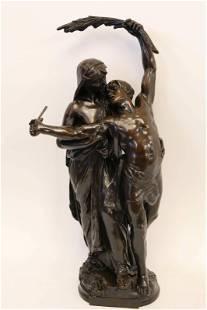 Eugene Marioton (French 1857-1933)Bronze Sculpture