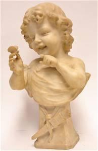 Guglielmo Pugi Italy 1870-1915 Marble Sculpture
