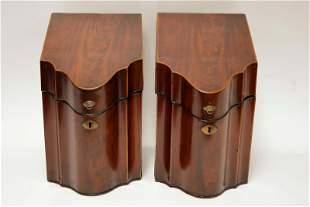 Pair 19th Century English Georgian Knife Boxes