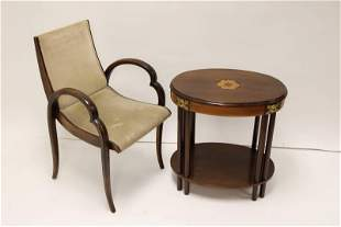 Art Deco Occasional / Side Table w Art Deco Chair