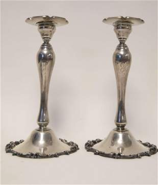 Pr Whiting Louis XV Sterling Candle Holders