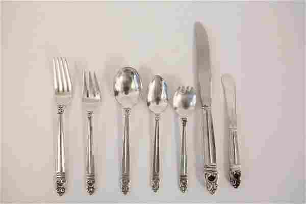 "112pc International Silver ""Royal Danish"" Sterling"