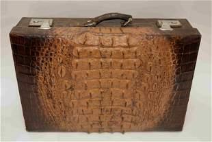 Vintage Alligator Luggage / Large Suitcase