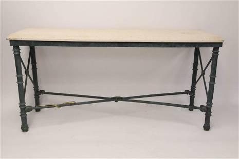 Vintage Italian Wrought Iron Consol Table w Snake