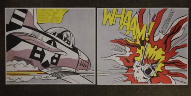 """Roy Lichtenstein for Tate Gallery """"Wham"""" ca 1963"""