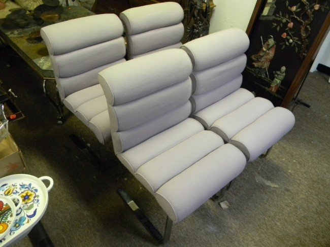 7: (4) Upholstered Brewer chairs.