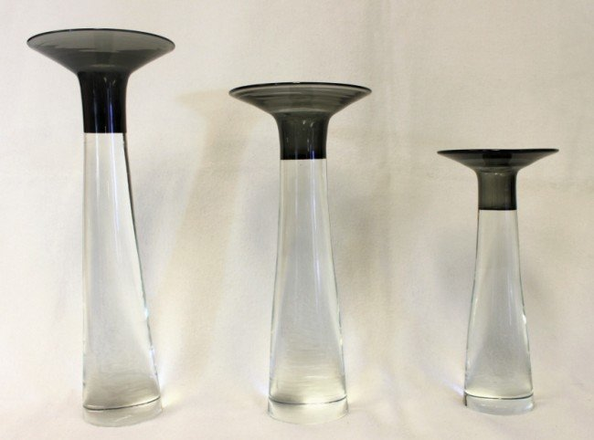 1: Gino Cenedese Glass Candlesticks (set of 3)