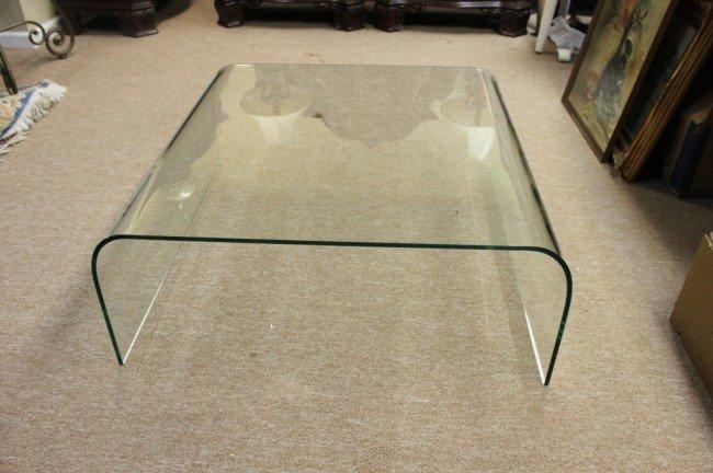 55: Italian Fontana Arte Solid Glass Coffee Table