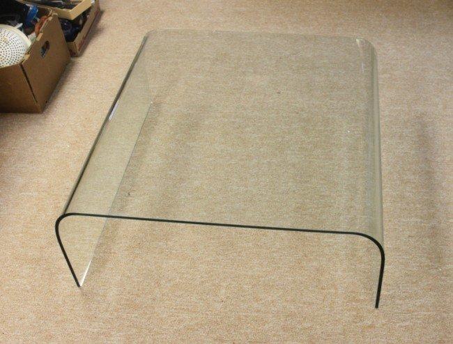 55: Italian Fontana Arte Solid Glass Coffee Table - 3