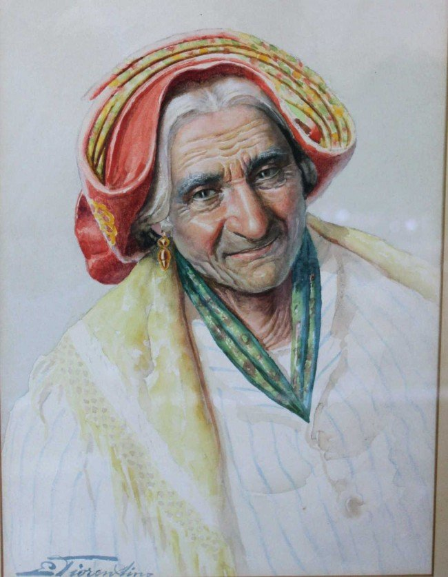 139: E. Tiorentino Watercolor on paper - 2