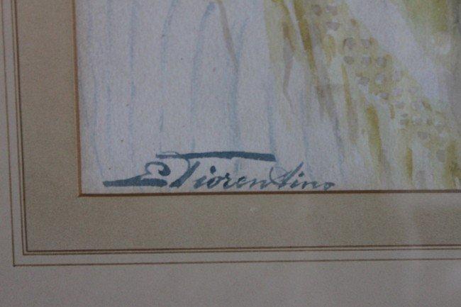 139: E. Tiorentino Watercolor on paper - 3