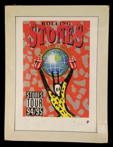 172: Autographed Rolling Stones Collection Lithograph