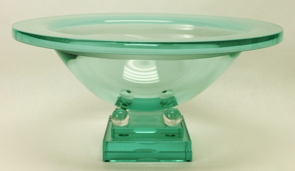 19: Salvatore Polizzi  Art Glass Centerpiece Bowl