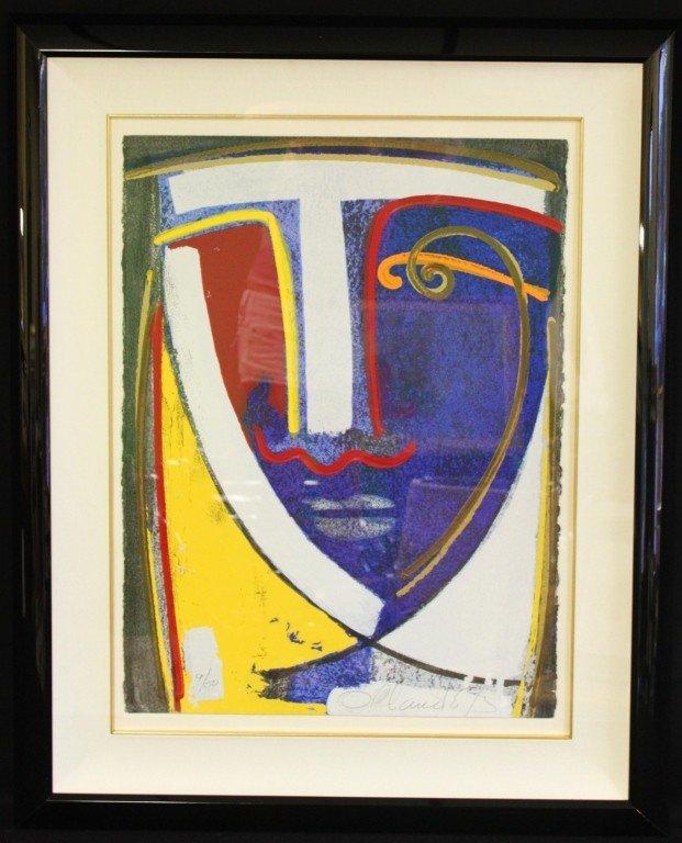 "21: Orlando Agudelo Botero Serigraph, 'Origen"""