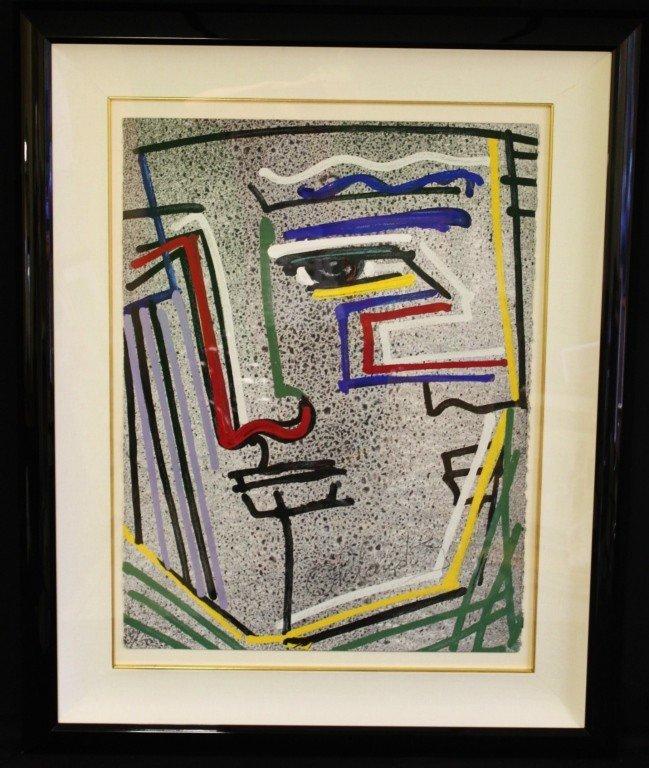 """22: Orlando Agudelo Botero Serigraph, 'Autoretratos"""""""