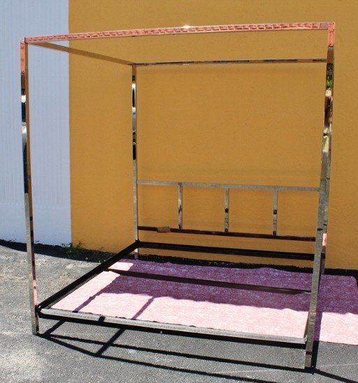39: King Chrome Canopy Bed - 2