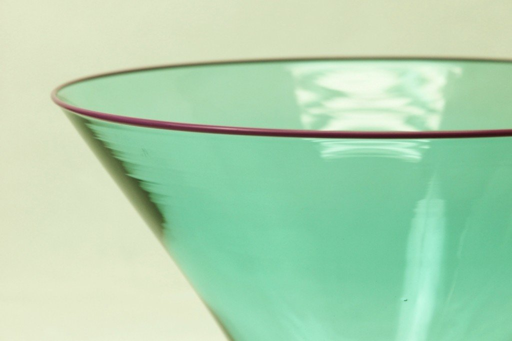 55: Young & Constantin Teal Art Glass Bowl - 2