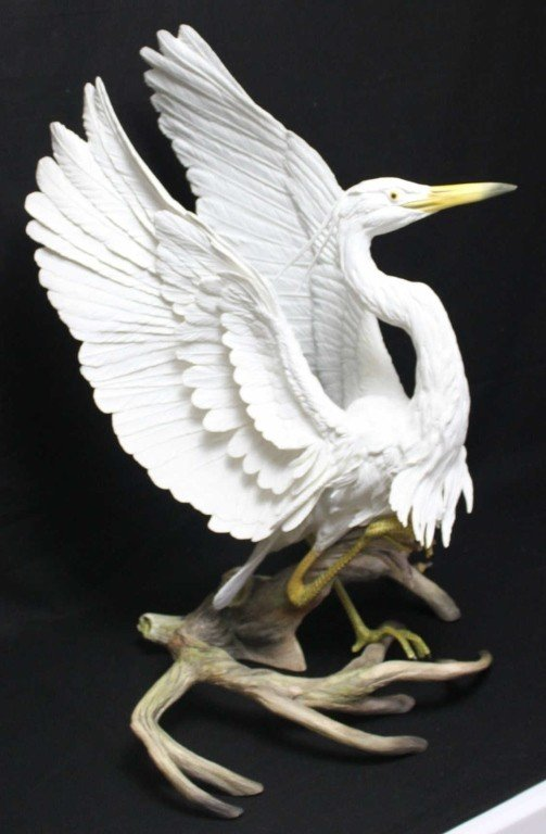 "78: Boehm, ""Great White Heron"" Sculpture"
