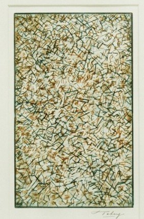 "Mark Tobey Drypoint Print ""Pensees Germinales"""