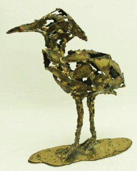 Silas Seandel Bronze Sculpture Great Crested Heron
