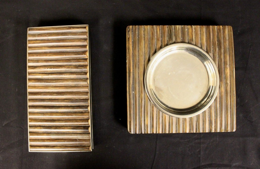 123: Ravarini Castoldi & C. (Italy) Smoking / Desk Set.