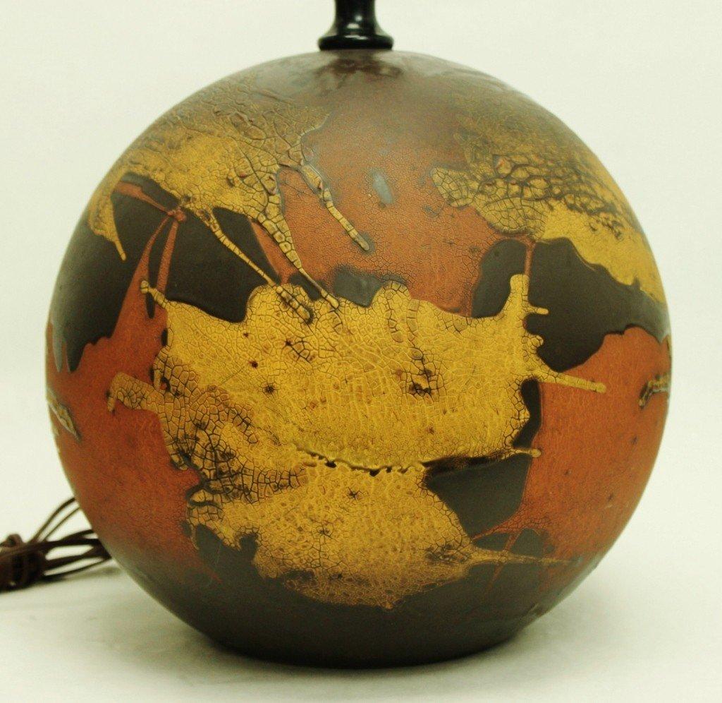 "126: Vintage Haeger ""Earth Wrap"" Pottery Table Lamp"