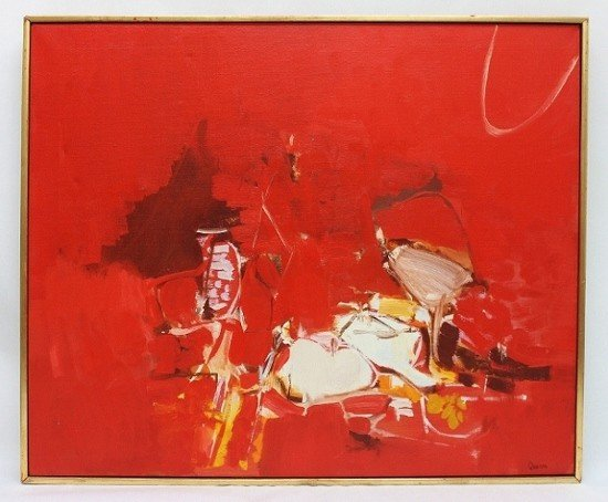 "142: William Quinn Oil on Canvas ""Greek Song"""