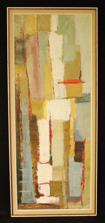 "143: Catherine Gensonnet Oil on Canvas, ""Composition"""