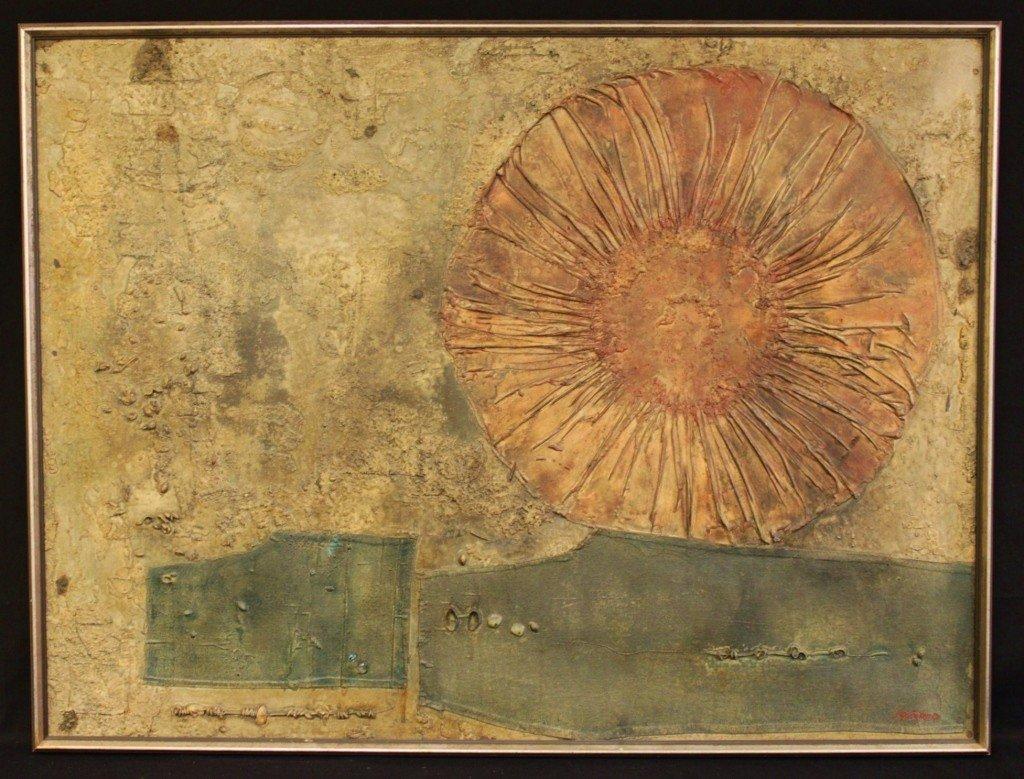 """144: Cesar Antonio Izquierdo Oil on Canvas.  """"Paisaue"""""""