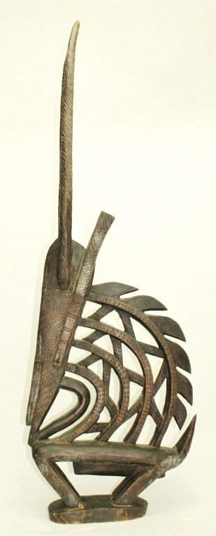 232: African Carved Wooden Headdress. Ashanti Tribe