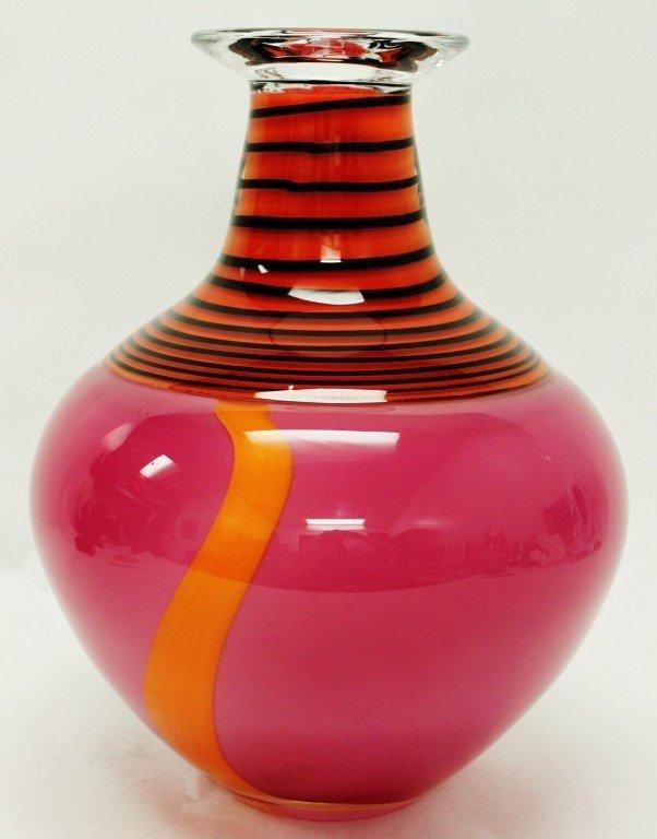 11: Hoglund , New Zealand Hand-Blown Art Glass Vase - 2