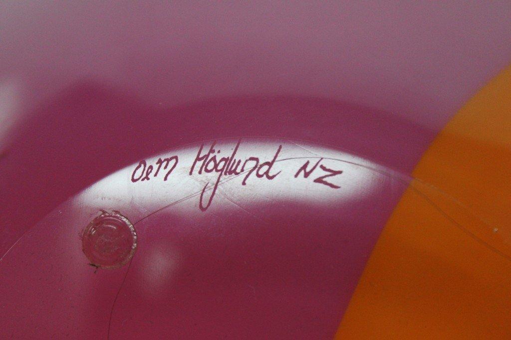 11: Hoglund , New Zealand Hand-Blown Art Glass Vase - 5